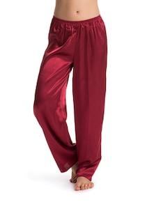 Burgundy Rouge Satin Pajamas - PrettySecrets