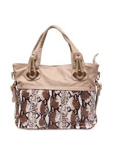 Off White Animal Print Handbag - Lalana