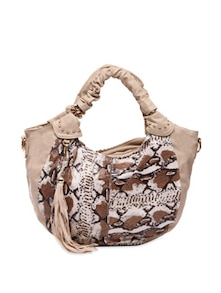 Striking Off White Animal Print Handbag - Lalana