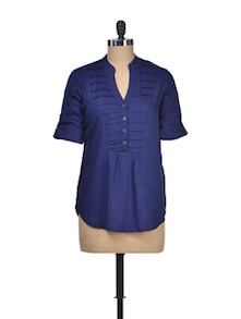 Bold And Blue Viscose Top - Silk Weavers