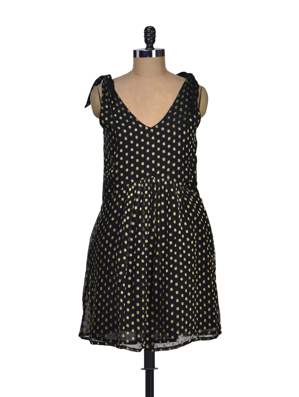Black Polka Dots Dress - Dame