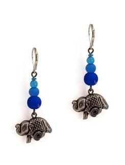 Blue Elephant Earrings - Eesha Zaveri; Jewellery By Design