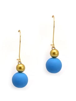 Blue And Gold Earrings - Eesha Zaveri; Jewellery By Design