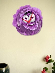 Smiling Purple Cabbage Wall Clock - BLACKSMITH