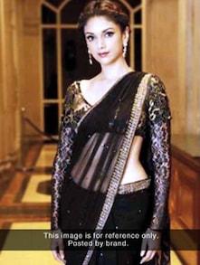 Black And Bold Net Saree - ROOP KASHISH