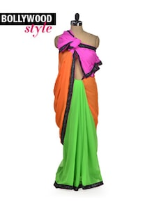 Designer Colour Splash Saree - Get Style At Home