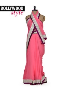 Pretty Pink Designer Saree - Get Style At Home