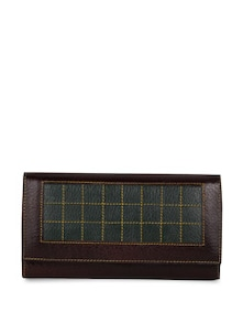 Black And Green Leather Wallet - Oleva
