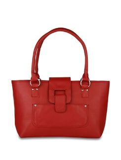 Red Textured Tote - ALESSIA