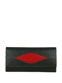 Black And Red Leather Wallet - Oleva
