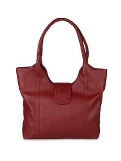 Red Textured Bag - ALESSIA