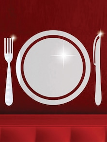 Dinner Platter 3D Mirror Sticker - Zeeshaan
