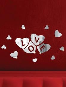 Love In The Heart 3D Mirror Sticker - Zeeshaan