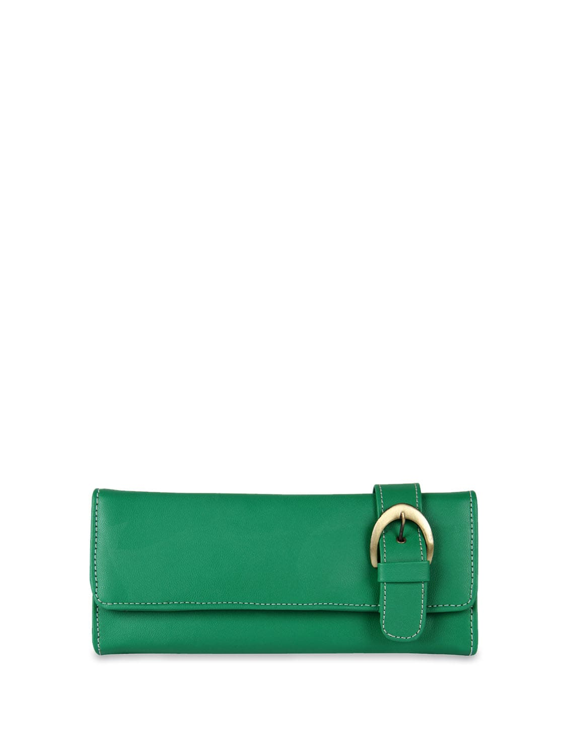 Green Belted Detail Wallet - ALESSIA