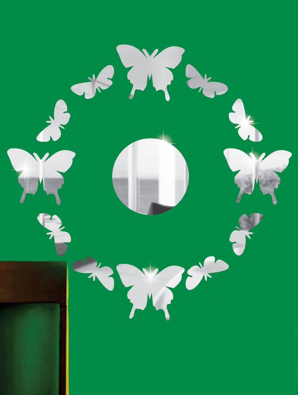 Surrounding Butterflies 3D Mirror Sticker - Zeeshaan