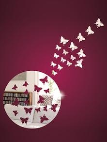 Flying Butterflies 3D Mirror Sticker - Zeeshaan