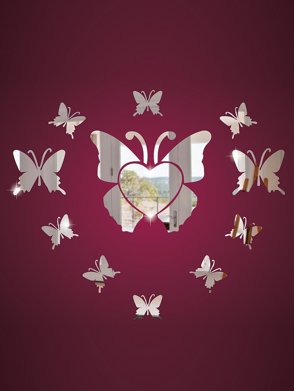 So Many Butterflies 3D Mirror Sticker - Zeeshaan