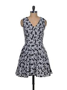 Floral Flamboyance Polyester Dress - Mishka