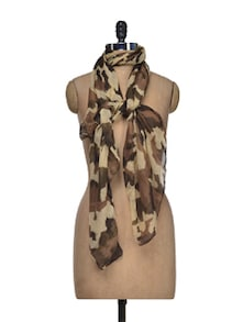 Colour Me Brown Printed Scarf - YOUSHINE