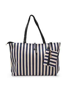 Blue And White Striped Shoulder Bag - YOUSHINE