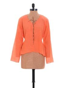 Tangerine Tie Up Top - Nangalia Ruchira