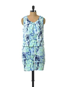 Blue Bliss Polyester Dress - Color Cocktail