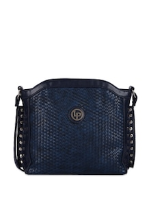 Classy Navy Faux Leather Bag - Lino Perros