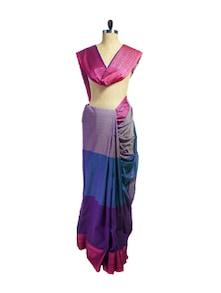 Multicolored Jacquard Border Saree - Spatika Sarees