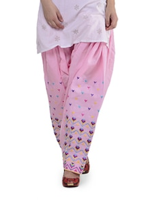 Elegant Pink Phulkari Patiala Salwar - Home Of Impression