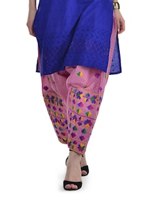 Chic Pink Phulkari Patiala Salwar - Home Of Impression