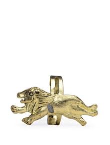 Stylish Golden Leopard Ring - Blueberry