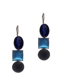 The Blue Hue Earrings - Blissdrizzle