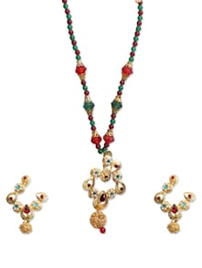 Multicolour Necklace Set - KSHITIJ