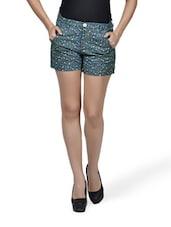 Printed Blue Shorts - Mind The Gap
