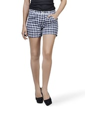 Chequered Blue And White Shorts - Mind The Gap