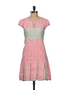 Pretty Pink Cotton Kurti - STRI