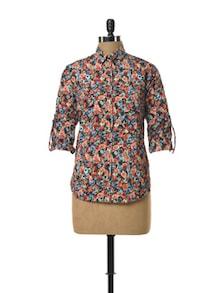 Printed Floral Shirt - TREND SHOP