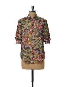 Floral Sheer Shirt - TREND SHOP