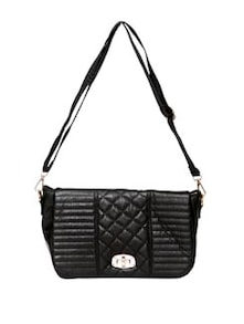 Quilted Black Sling Bag - Thegudlook