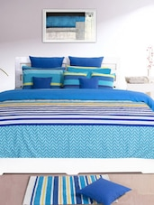 Blue Striped Double Dohar Cover - HOUSE THIS