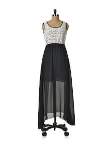 Monochrome Genius Dress - HERMOSEAR