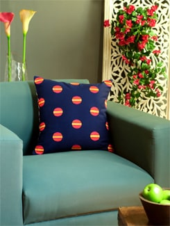 Blue & Red Digital Print Cushion Cover - REME