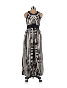 Chic Black And White Maxi Dress - Stylechiks