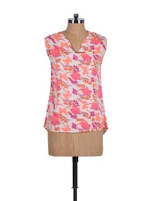 Butterfly Printed Sleeveless Top - Stylechiks