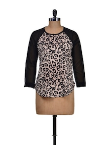 Animal Print Full Sleeves Top - Harpa