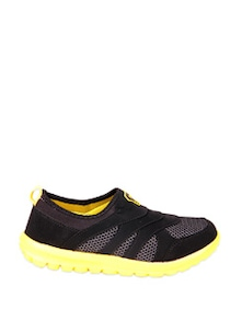 Smart Black And Yellow  Sports Shoes - STEPpings