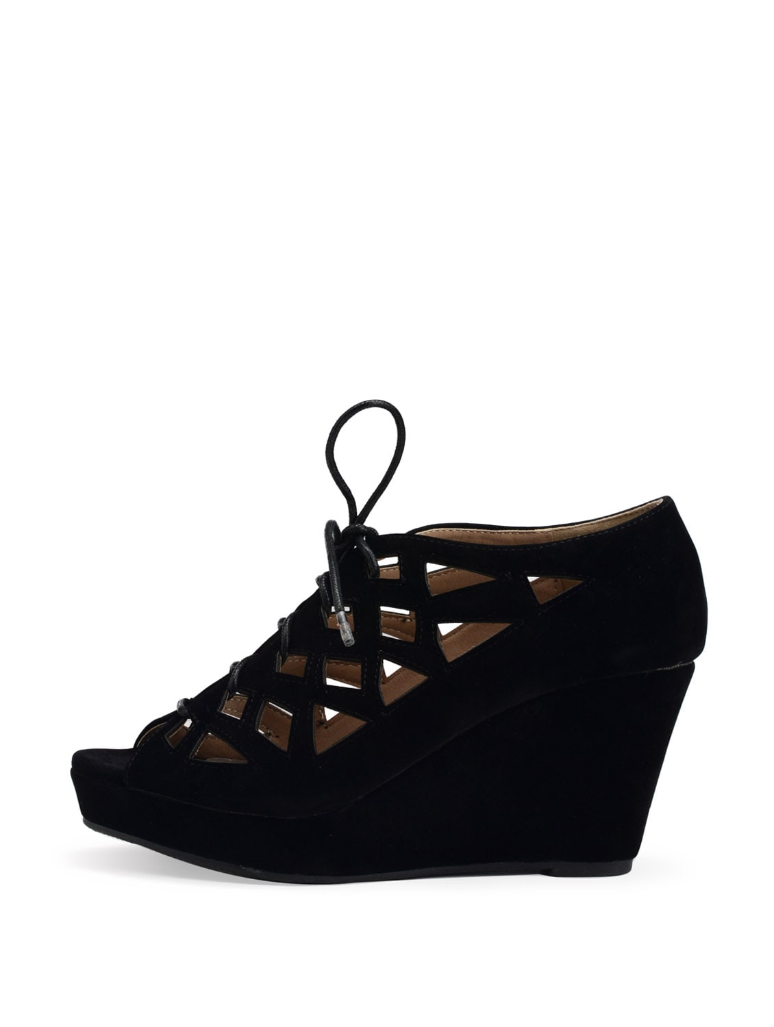 4d66e5a0c Buy Black Lace Up Wedge Sandals for Women from Carlton London for ₹3495 at  0% off