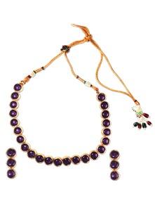Maroon Stones Necklace Set - SriyasCreation