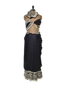 Classy Black And White Saree - ROOP KASHISH