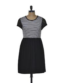 Black And White Formal Dress - CHERYMOYA